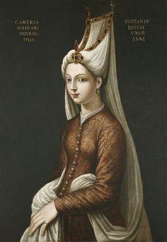Love the hat. Cameria (1522-1578), Daughter of the Emperor Soliman. After Cristofano dell' Altissimo (1530-1605) (?). Italian School, 16th century (?)