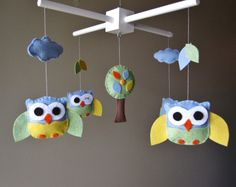 Baby Crib Mobile  Crib Mobile  Baby Mobile  Owl by LoveFeltXoXo, $85.00    How cute is this mobile!