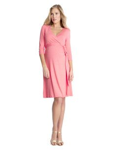 Seraphine 3/4 Sleeve Wrap Maternity Dress