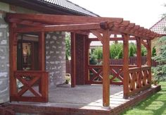 32 - # terrace cover 32 Whilst historic in thought, this pergola has become Backyard Patio Designs, Backyard Bbq, Pergola Designs, Backyard Landscaping, Casa Patio, Patio Roof, Pergola Patio, Modern Pergola, Patio Makeover
