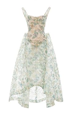 Embroidered Guipure Gown by ZAC POSEN Now Available on Moda Operandi
