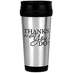 Thank You Stainless Tumbler/Stainless Steel Thank You 14 oz Stainless Tumbler/Nurses Thanks/Corporate Thank You Travel Mugs/Nurse's Day Gifts