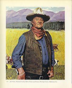 Norman Rockwell John Wayne the cowboy ;  I love John Wayne and so did my father
