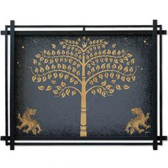 Buy 'Golden Bo Tree with Lions' today. Shop unique, award-winning Artisan treasures by NOVICA, the Impact Marketplace. Each original piece goes through a certification process to guarantee best value and premium quality. Lion Wall Art, Tree Wall Art, Canvas Art Projects, Kalamkari Painting, Spiritual Paintings, Tree Of Life Art, Bodhi Tree, Types Of Painting, In The Tree