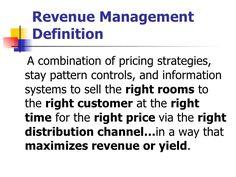 cornell university revenue management - Google Search