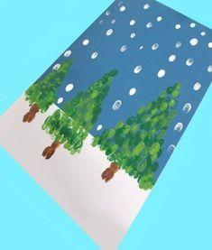 winter fingerprint christmas tree kid crafts - christmas kid craft - arts and crafts activities - am Christmas Crafts For Kids To Make, Christmas Tree Crafts, Preschool Christmas, Easy Crafts For Kids, Craft Activities For Kids, Christmas Activities, Toddler Crafts, Kids Christmas, Fun Arts And Crafts