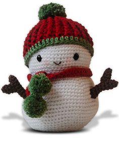Christmas snowman amigurumi pattern
