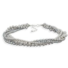 """16""""+2"""" Multistrand Cultured Freshwater Pearl Necklace"""