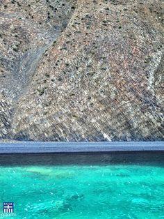 Mavra Volia . Chios island . Volcanic and emerald waters