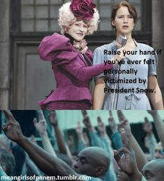 I can't wait for Catching Fire. Ish is about to go dowwwwnnnn. #katniss #effie #district11 #hungergames #meangirls