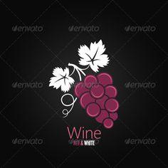 Wine Grapes Design Background