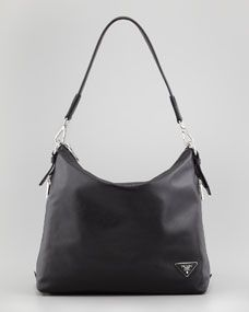 Soft Calf Zip-Top Hobo Bag, Black - If I had/needed to buy a black hobo right now, I would have to choose between this and Ferragamo's Fanisa.  Because I tend to use mine everyday, I might opt for a bag made with pebbled leather.