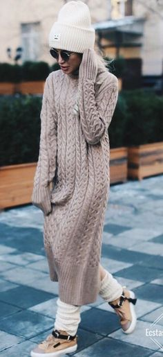 Cozy Fall Sweater Dress // Fashion Look by shapirotati. - Total Street Style Looks And Fashion Outfit Ideas Dress Outfits, Winter Outfits, Fashion Dresses, Dress Winter, Winter Dresses, Trendy Dresses, Nice Dresses, Fall Sweaters, Sweaters For Women