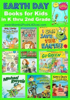 Earth Day Books for Kids in K thru 2nd Grade -