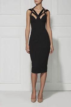 Impresionantes vestidos de color negro para una ocasión especial..de Misha Collection