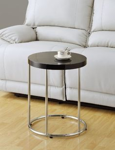 Glossy Black / Chrome Metal Accent Table