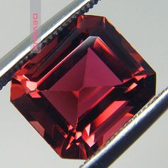 RESERVED 4.79ct Red Tourmaline. Flawless Emerald Step by GurlGems