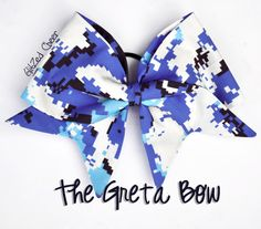 """The """"Greta"""" Handsewn Cheer Bow by GlitZedCheerBowsETC on Etsy https://www.etsy.com/listing/208738298/the-greta-handsewn-cheer-bow"""