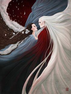 Beautiful Artwork of Lyanna and Rhaegar by... | Game of Thrones Fan Art