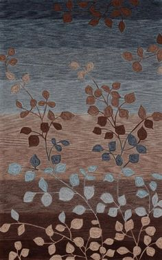 Dalyn Rugs Studio SD01: Contemporary Oriental blue, light blue, brown, maroon, beige, tan, grey, gray, pink, purple, modern, oriental, leaf, leaves, tree, branches, rug, rugs, carpet, carpets. SAVE 22% + FREE SHIPPING with Promo Code: COUPON22