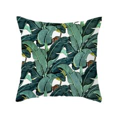 Capture island style with the bold, verdant design of this cushy throw pillow. A modern pattern of banana leaves (with a few banana bunches peeking through!) gives a fun, yet fashion-minded splash to c...  Find the Banana Tree Pillow, as seen in the Gifts for Her Collection at http://dotandbo.com/collections/holiday-gift-guide-gifts-for-her?utm_source=pinterest&utm_medium=organic&db_sku=104362