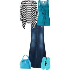 I have a skirt similar to the cardigan and a tank like this, so this combination gives me some ideas.