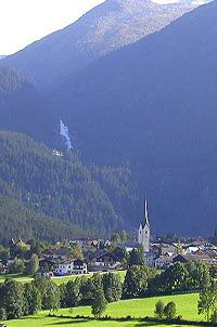 Krimml, Austria. This gorgeous Austrian town is our starting point for our June, August and September 2013 bicycle tours of Austria.