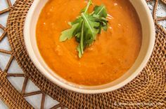 Sunday Slow Cooker:  Creamy Chipotle Tomato Soup | Slender Kitchen
