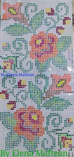 Hardanger Embroidery, Embroidery Patterns, Cross Stitch Designs, Cross Stitch Patterns, Weaving, Textiles, Wool, Floral, Handmade