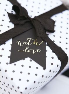 black & white gift wrap