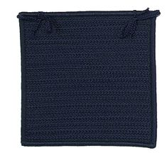 Charlton Home Glasgow Square Indoor/Outdoor Braided Chair Pad (Set of Color: Navy Custom Outdoor Cushions, Outdoor Dining Chair Cushions, Patio Chairs, Simply Home, School Chairs, Blue Square, Traditional Looks, Chair Pads, Glasgow