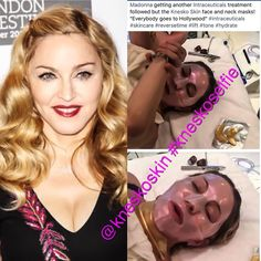 Madonna getting the Diamond & Nanogold treatment with Fashion Face Mask, Face Skin, Collagen, Madonna, Hollywood, Skin Care, Celebrities, Instagram Posts, Flow
