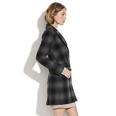 Madewell plaid passporter coat <3