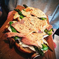 New poached salmon bruschetta - must try! #food #lunch #yummy #breakfast - Snapshot #GetWeHeartPics