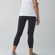 Zone In Crop Brand new with tags, size 4 in black. Tight compression legging, cheaper through merc lululemon athletica Pants Ankle & Cropped