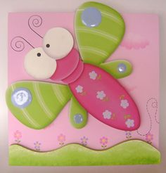 Libelula Foam Crafts, Diy And Crafts, Crafts For Kids, Arts And Crafts, Painting For Kids, Painting On Wood, Decorative Painting Projects, Arte Country, Wooden Cutouts