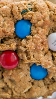 ... oatmeal cookies chock full of red, white and blue M&M's and