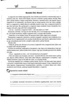Botond  1. Olvasni jó! Szövegértés gyakorlóból Teaching, Teaching Manners, Learning, Education