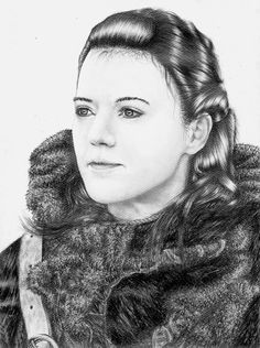 Rose Leslie pour #GameOfThrones [Copyright : Sheepys_drawings]