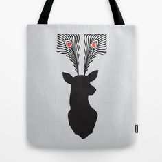 deer head Tote Bag by Vinspiro - $22.00