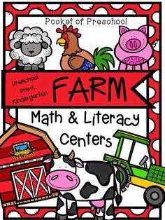 Pocket of Preschool: Farm Math and Literacy Centers (Freebies)