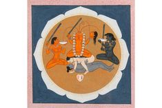 """Chinnamasta, which literally translates to """"severed head,"""" one of ten mahavidyas or goddesses worshipped in the Hindu tradition, all incarnations of the great goddess Devi. Art Quiz, Contemporary African Art, Bamboo Art, Cleveland Museum Of Art, Mark Rothko, Hindu Art, Traditional Paintings, First Art, Indian Paintings"""