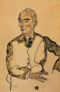 Egon Schiele, Portrait of Dr. Viktor Ritter von Bauer, 1917