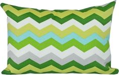 chevron pillow in outdoor fabric by Tonic Living. 12 x17 Lumbar, perfect for the small of your back.  #pillows #outdoordecor #chevron #zigzag #tonicliving #madeincanada