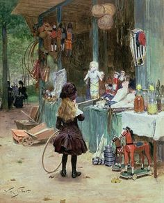 At the Champs Elysees Gardens, 1897 - Victor-Gabriel Gilbert (French, 1847-1933)