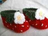 Strawberry bootie, the cutest things ever!