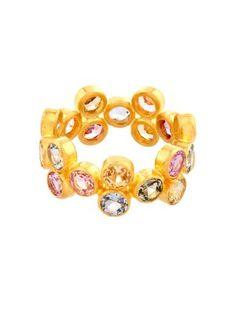 Multicoloured sapphire