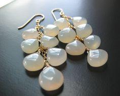 #Gemma #Chalcedony Vine #Earrings #handmade #thecraftstar $78.00