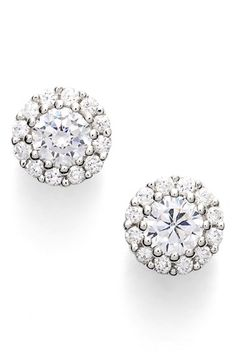 Nordstrom Cluster 0.50ct tw Cubic Zirconia Stud Earrings available at #Nordstrom