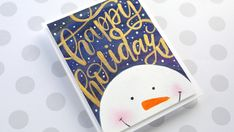 Holiday Card Series 2017 – Day 21 – Minimal Supplies, Watercolor Snowman – kwernerdesign blog